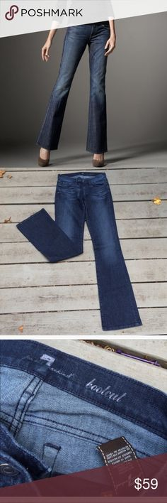 """7 for all mankind Bootcut Jeans Inseam 34"""". Waist 14.5"""", rise 8"""". Gently worn. Excellent condition. Cotton and spandex. 7 For All Mankind Jeans Boot Cut"""