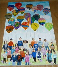 Get each child to paint a balloon and attach it to a photo of the child! Makes a great class project!