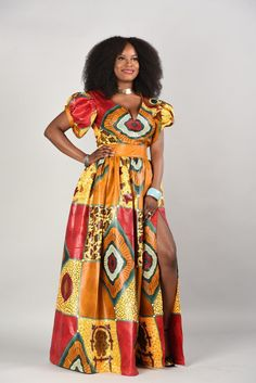 25 Beautiful African Print Maxi Dresses And Gowns For a Wedding Guest African Fashion Skirts, African Maxi Dresses, African Attire, African Wear, Ethnic Fashion, African Lace, African Blouses, Tribal Dress, Gowns