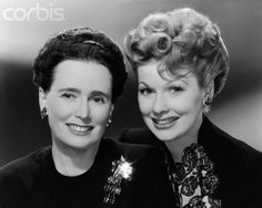 """Lucille Ball and her Mom - My mom did Lucy's hair for the """"I Love Lucy"""" show, but wasn't too fond of Lucy."""