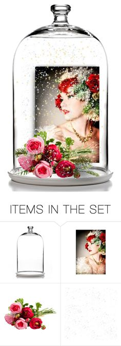 """rosy snow globe contest"" by art-gives-me-life ❤ liked on Polyvore featuring art, contestentry and letsmakesnowglobes"
