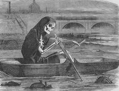 The Great Stink - The Silent Highwayman by John Tenniel, 1858