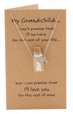 Thea Message in a Bottle Gift, Love You to the Moon and Back Granddaughter Necklace 21st Birthday Quotes, Birthday Wishes, Advent Calendar Fillers, Graduation Poems, Back Necklace, Message In A Bottle, Grandchildren, Grandkids, Daughter Quotes