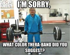 Don't underestimate your patients! And don't under-dose strength training for the elderly and aging.
