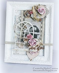 Altered Picture Frame - Berry71Bleu - Scrapbook.com