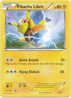 Pikachu Libre | Basic | Electric | NO. 025 Mouse Pokemon | 14/30