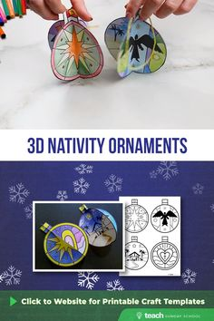 This is one of our favorite nativity crafts! These Nativity Globes are an easy and adorable Christmas ornament craft 3d Christmas, Christmas Ornament Crafts, Preschool Christmas, Christmas Nativity, Christmas Crafts For Kids, Christmas Activities, Holiday Crafts, Christian Christmas Crafts, Nativity Ornaments