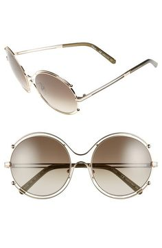 495c43fb85ad Chloé  Isidora  59mm Round Sunglasses available at  Nordstrom