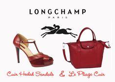 Longchamp - La Pliage Cuir Bag & Peep Toe Heels...  Say Yes Please.....