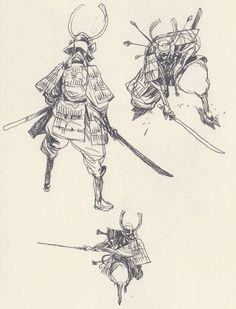 Character sketches 455074737329138779 - guillaume singelin Source by andreperrin Character Concept, Character Art, Concept Art, Character Sketches, Drawing Poses, Drawing Sketches, Drawings, Samurai Artwork, Poses References