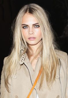 nude pallet, smoldering eye, dark brow + platinum blond w/ dark roots