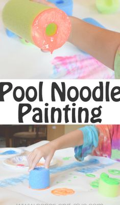 Noodle Painting Process Art Pool Noodle Painting- Fun summer process art activity for preschool, kindergarten, and elementary kids.Pool Noodle Painting- Fun summer process art activity for preschool, kindergarten, and elementary kids. Summer Activities For Kids, Craft Activities, Preschool Crafts, Preschool Kindergarten, Process Art Preschool, Preschool Planner, Preschool Painting, Summer Crafts For Preschoolers, Summer Activities For Preschoolers