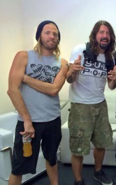 Taylor Hawkins and Dave Grohl - Brazil January 25, 2015
