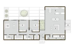 L shaped house