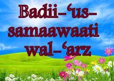 Badii-'us-samaawaati wal-'arz | A Complete Code of Life - Islam
