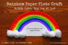 Rainbow Paper Plate Craft & AWANA Cubbies Bear Hug #8 (printable included) - A Cubbies Series with Meaningful Mama