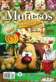 MUÑECOS COUNTRY No.123 - Alandaluz Lopez M. - Álbumes web de Picasa Animal Magazines, Sewing Magazines, Country Crafts, Sewing Dolls, Soft Dolls, Softies, Crafts To Make, Lana, Sewing Crafts