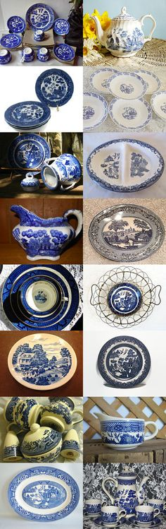A Tribute to Blue Willow! by Betty J. Powell on Etsy--Pinned with TreasuryPin.com