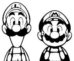 dessin de luigi et mario à imprimer, a partir de la galerie : mario bros   tiago   pinterest