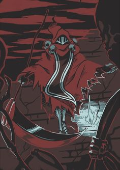 This is Specter Knight from Shovel Knight, which I JUST started playing (better late than never! Good Knight, Knight Art, Video Game Art, Video Games, Plague Knight, Castle Crashers, Shovel Knight, Fallen London, Skullgirls