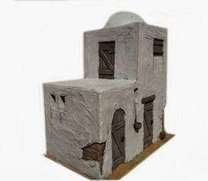 Belen artesanal: Catálogo de construcciones Idea Portal, Market Stalls, Miniature Houses, Inspired Homes, Diorama, Nativity, Projects To Try, Christmas, Crafts