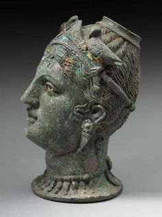 """theancientwayoflife: """" ~Perfume jar (balsamarium) in the shape of female head (Aphrodite / Turan? Culture: Italic, Etruscan Period: Hellenistic Period Period: late century B. Ancient History, Art History, European History, Ancient Aliens, American History, Objets Antiques, Art Romain, Statues, Pompeii"""
