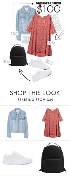 """Under $100: Summer Dresses"" by fashionableforeign ❤ liked on Polyvore featuring MANGO, Monki and Vans"