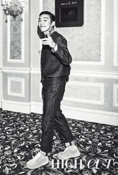Yoo Ah In sweeps his hair back to show his classy side in 'High Cut'   allkpop.com