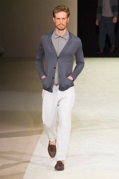 Giorgio Armani presented its Spring/Summer 2015 collection during Milan Fashion Week.