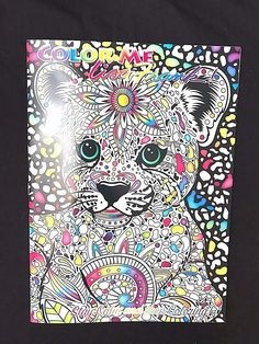 Leopard Color Me LISA FRANK Adult & Teen Coloring Book Stay Calm & Keep Coloring