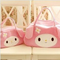 Cute My Melody Pink Velour Purse Handbag