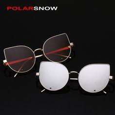 POLARSNOW Brand Cat Eye Women Sunglasses Fashion Designer 2017 Luxury Ladies Eyewear Accessories Top Quality Sun Glasses Female