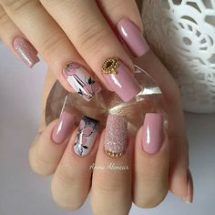 🔼Discover our semi-permanent nail polish for a perfect manicure in record time😉! 🎁 on your first order with the code -International delivery Aycrlic Nails, Bling Nails, Hair And Nails, Cute Nail Art, Cute Nails, Pretty Nails, Fall Nail Art Designs, Acrylic Nail Designs, Bridal Nail Art