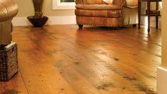 Wide Plank Wood Flooring  Comfortabel Living Room With Plank Wood Floor