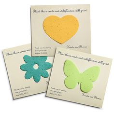 Plantable Card Favors - what a cute idea!
