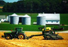 Indiana farm fields