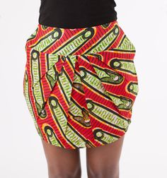 The Nina  African Print 100 Cotton Tulip by HouseOfTatusi on Etsy, $85.00 #AfricanPrints #kente #ankara #AfricanStyle #AfricanInspired