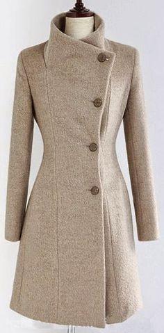 Fashion For Women: Wool blend winter fashion coat