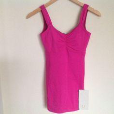 Lululemon Pink Tank 2 Aria NWT #Lululemon #ShirtsTops