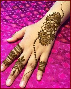 What is a Henna Tattoo? Henna tattoos are becoming very popular, but what precisely are they? Henna Hand Designs, Mehndi Designs Finger, Henna Tattoo Designs Simple, Simple Arabic Mehndi Designs, Mehndi Designs For Beginners, Modern Mehndi Designs, Mehndi Design Photos, Mehndi Simple, Mehndi Designs For Fingers