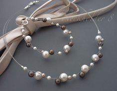SET Brautschmuck Neckholderkette 8 Armband 925 ... von sovielschoen - schmuck und schmueckendes & Brautschmuck auf DaWanda.com
