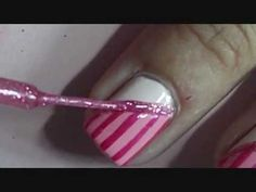 Girly Valentine's Day Nails  REALLY cute without the jewels