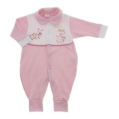Macacão de Bebê Menina em Malha Barato - 9029 - Rosa | Cegonha Encantada