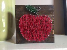 Teacher Gift apple string art by Kimsheartstrings on Etsy