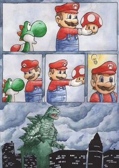 Mario...YOU DOOMED US ALL!!!