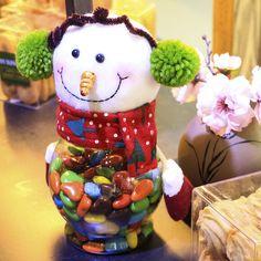 HAOCHU 2Pcs Christmas Candy Jar Decor Plastic Transparent Jar Wrap Cute Pretty Santa Claus Snowman Elk Gift Kid Room Supplies #Affiliate