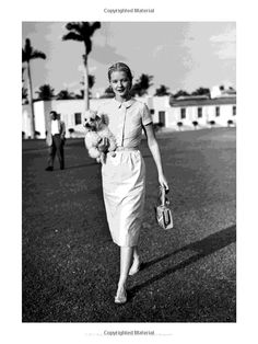 C.Z. Guest from C.Z. Guest: American Style Icon by Susanna Salk.  C.Z. walks outside at the Everglades Club, Palm Beach, 1965.  Photo by Bert Morgan.