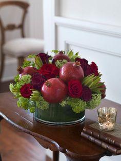 Blumen Früchten ideen selbermachen granatapfel rosen