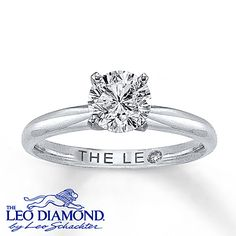 The Leo Diamond 1 Carat Solitaire Ring 14K White Gold- Kay Jewelers 1ct. Leo round   Color HI  Clarity SI1-2  Metal-White Gold, Platinum Prong $6499.99