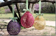String Eggs for Easter